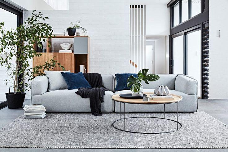GlobeWest Felix Geo Sofa Styling: Ruth Welsby | Photography: Mike Baker #globewest #modern #masculine #livingroom