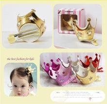 vijf kleuren kroon prinses kroon haarspelden haarspeldjes piercing kleine ster kroon haarspelden baby meisje haarspelden beste cadeau voor meisjes(China (Mainland))