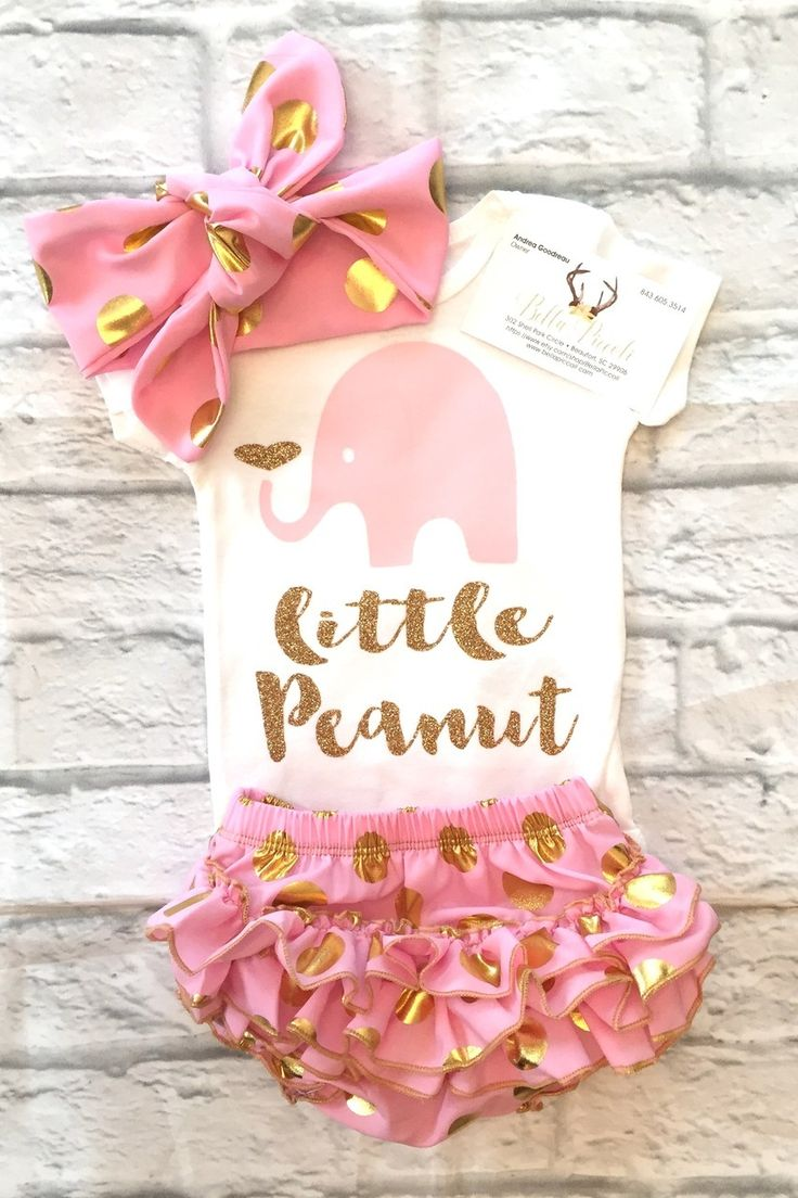 Baby Girl Clothes, Little Peanut Baby Onesie, Little Peanut Bodysuit,  Little Peanut.