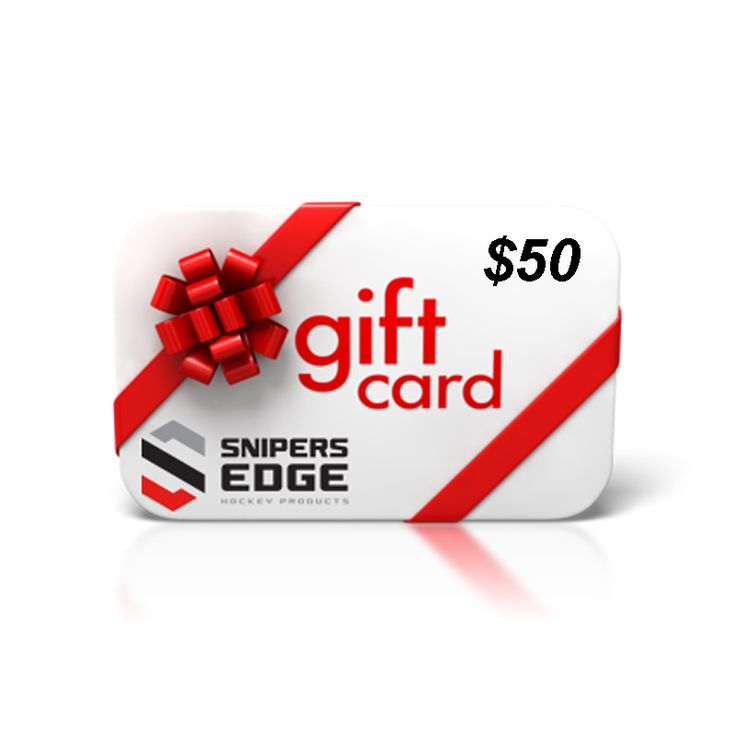 THEY GET EXACTLY WHAT THEY WANT. YOU GET TO SAVE MONEY. Want to give a gift that every hockey player will love?   Give a SnipersEdgeHockey.com gift card and they can choose the product that they like best.  Electronic Gift Card will be e-mailed directly to the e-mail address on file with the order.   It can then be printed out to be given as a gift or e-mailed to the recipient.  NOTE: HOLIDAY or other Discount Codes are not valid on Gift Card purchases.