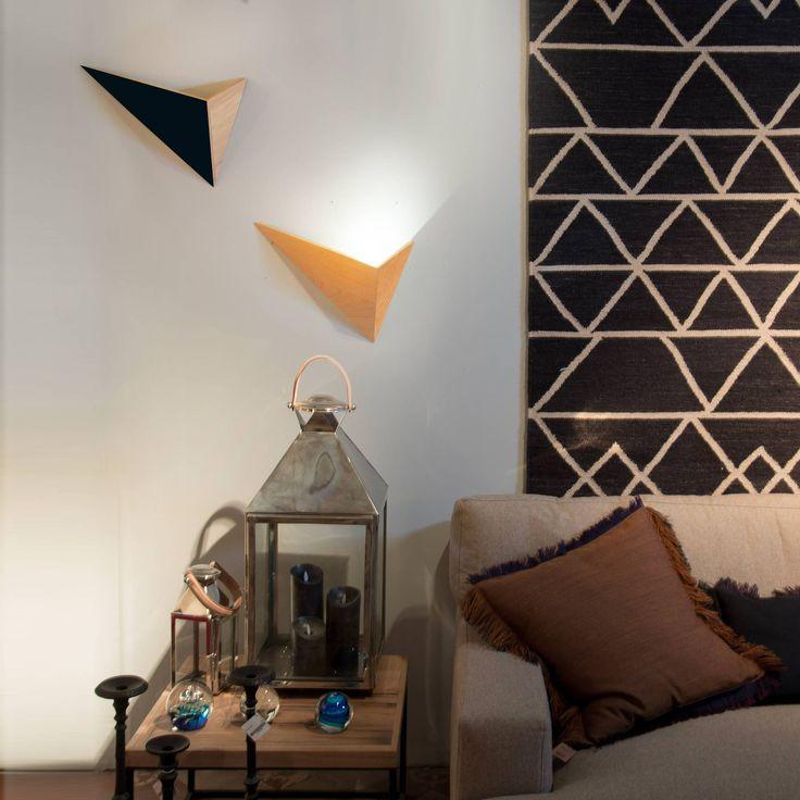 FLECHE - Applique murale Chêne/Noir L40cm Drugeot Labo