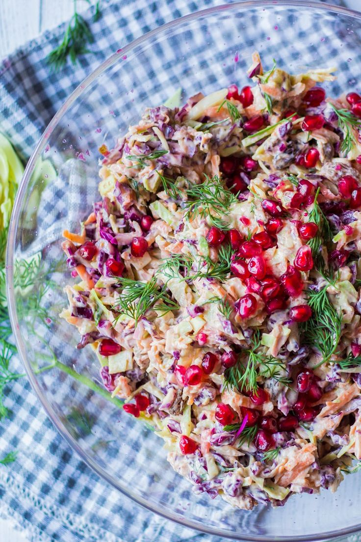 pomegranate and dill coleslaw