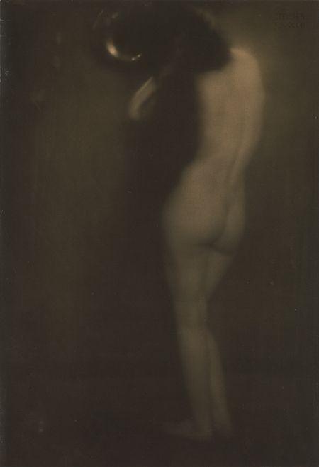 Edward Steichen (American, born Luxembourg, 1879–1973)- The Little Round Mirror, 1901, printed 1905  (Gum bichromate over platinum print)