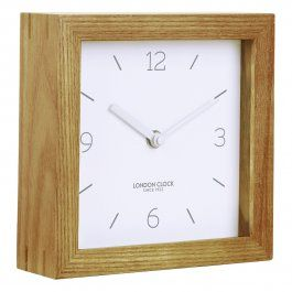 This scandinavian inspired mantel clock takes it name, 'Tid', from the Swedish word meaning time. The solid wood case brings warmth, whilst the white marker dial adds a minamilistic feel, portraying the Tid's contemporary Scandinavian finish that will look great on your mantel piece.