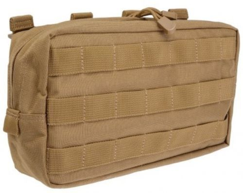 Earth Color 10X6 Tactical Assault Gear Slick Stick Molle Attachment System Pouch