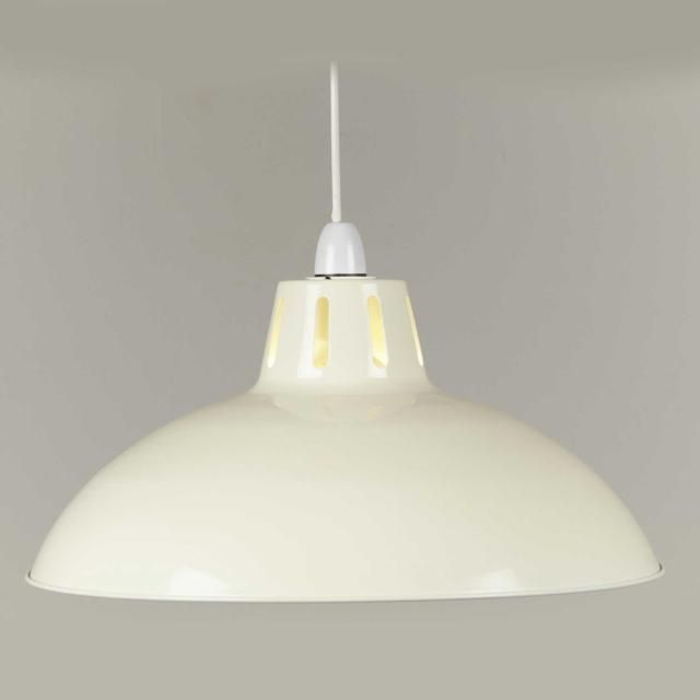 Large Cream Battersea Ceiling Pendant Shade - 40cm by Loxton Lighting