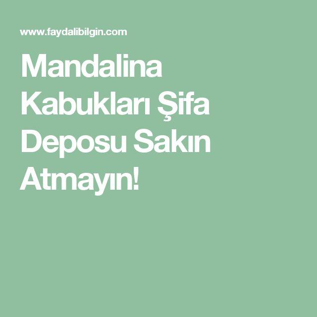 Mandalina Kabukları Şifa Deposu Sakın Atmayın!