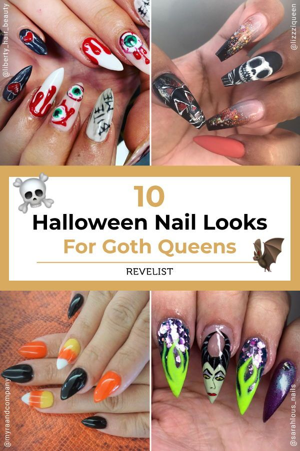 10 Halloween Nail Looks If Goth Queen Is Your Vibe This Year