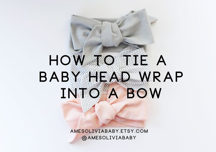 How to tie a baby head wrap. Baby head wrap tutorial.