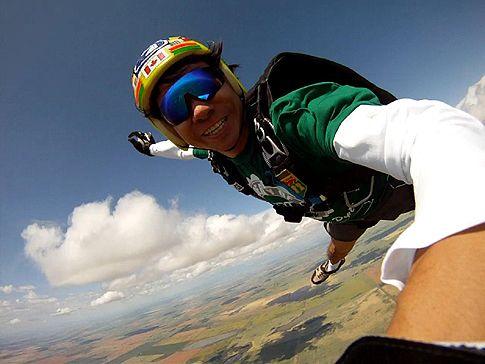Sky Dive high above Saskatchewan, Canada