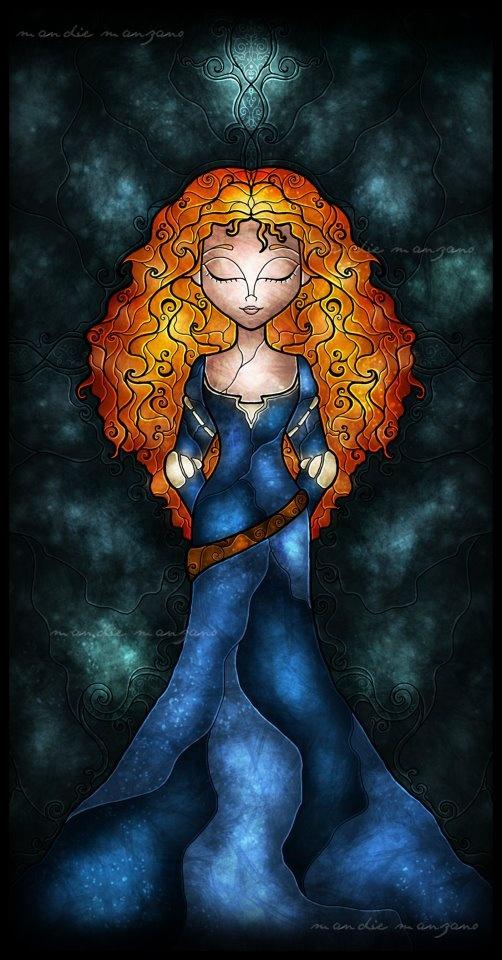 Disney Stained Glass - Merida