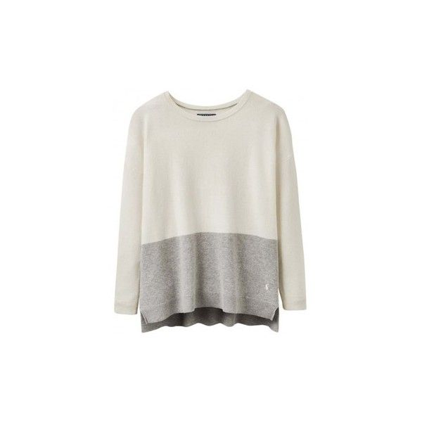 Joules Haylock ladies Jumper (V) Sweater (£65) ❤ liked on Polyvore featuring tops, sweaters, beige, women, joules jumpers, beige sweater, joules tops, jumper top and jumpers sweaters