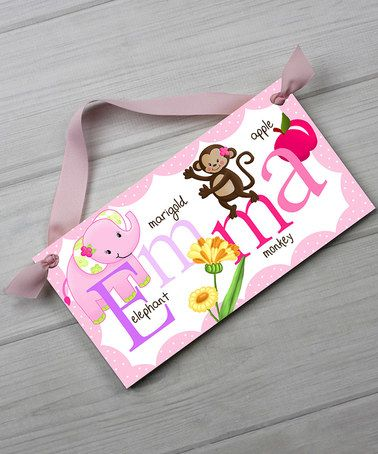 Look what I found on #zulily! Pink & Purple Alphabet Name Personalized Wall Sign #zulilyfinds
