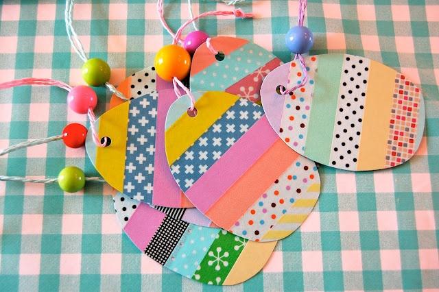 Easter eggs + masking tape
