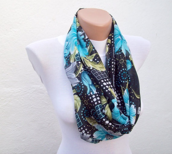 infinity scarf Loop scarf Neckwarmer Necklace scarf by nurlu,