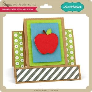 LW-Square-Center-Step-Card-School, great for 2015-16 first day of school, teacher info for parents card