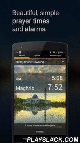 Muslim Azan & Salah Times  Android App - playslack.com ,  Adhan, Adhaan, or Azaan. Salah, salat, or namaz. No matter what you call it, Masjid Now has you covered.Fully compatible with Android 5.0 Lollipop - get prayer notifications on your Android Wear watch!FEATURES:* Adhan alarms with 4 muezzins (and Fajr Azan)* Prayer reminders and alerts before prayer ends* Qiblah direction using phone's compass* Download mosque's iqama/prayer timings* Find nearby mosques* Salah Daydream: Your phone or…