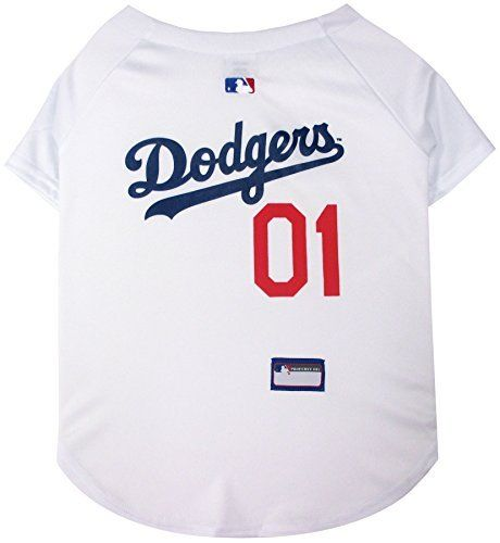 Pets First MLB Los Angeles Dodgers Dog Jersey, Small
