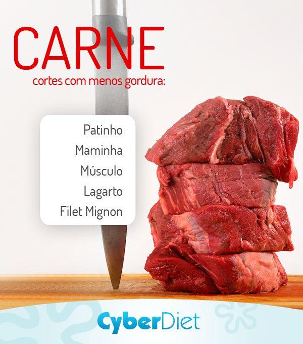 Você fica em dúvida de qual corte de carne é mais magro na hora de comprar? Conheça os cortes de carne bovina que possuem menos quantidade de gordura. http://maisequilibrio.terra.com.br/a-carne-vermelha-e-prejudicial-a-saude-2-1-1-112.html?origem=pinterest