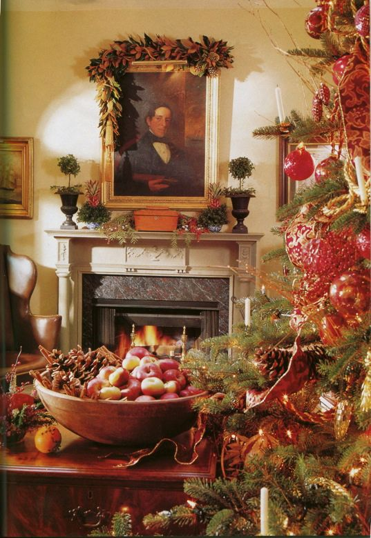 Living a Beautiful Life ~ Decorating with Tea Caddies~ At Christmas  time.Jennings & Gates: Notes from a Virginia Country House