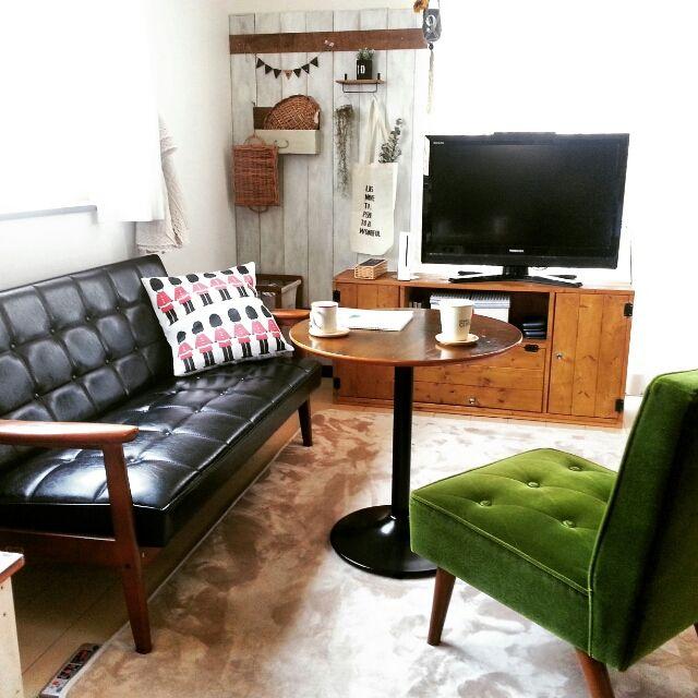 カリモク60/ソファ/rkmamaちゃん♡/DIY/板壁/カフェ風…などのインテリア実例 - 2015-03-30 10:51:57   RoomClip(ルームクリップ)