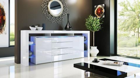 """Sideboard """"Lima Nova V3"""" - in White High Gloss / Various Colours"""