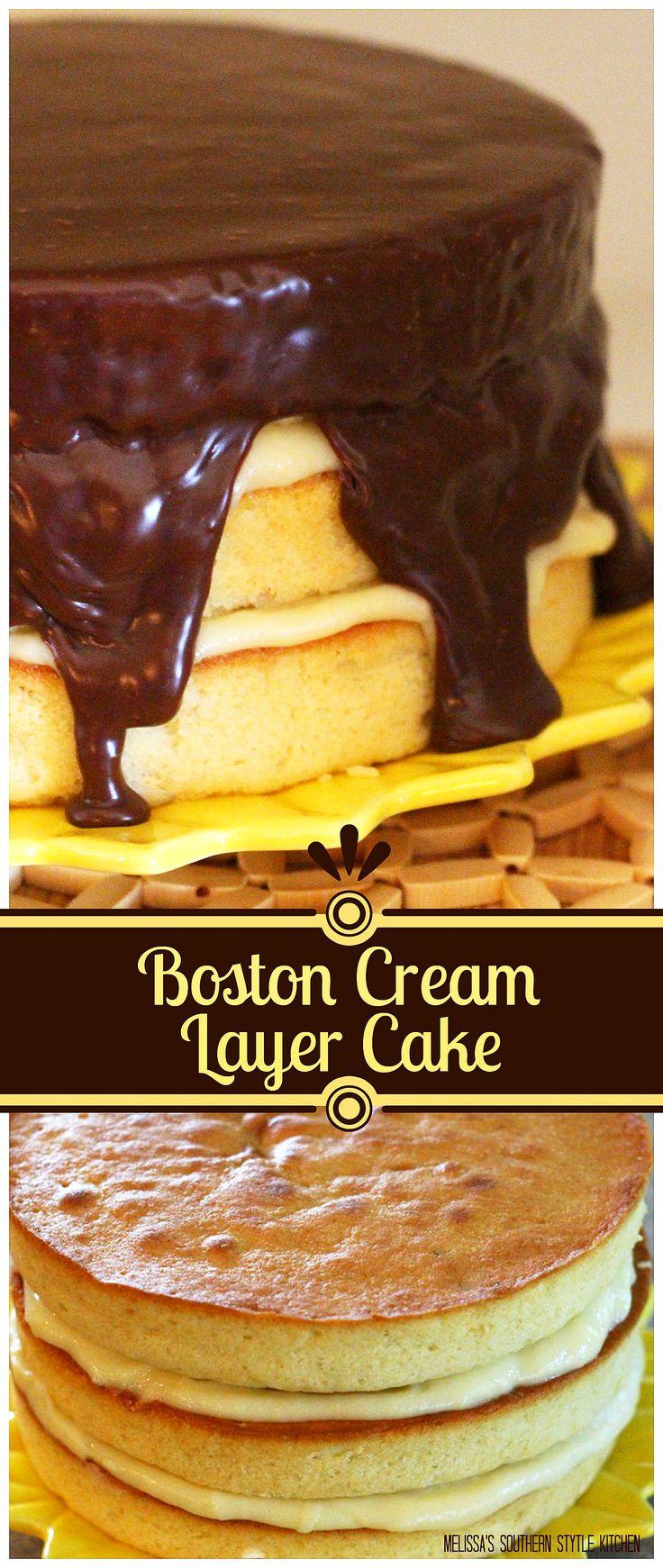 Boston Cream Layer Cake