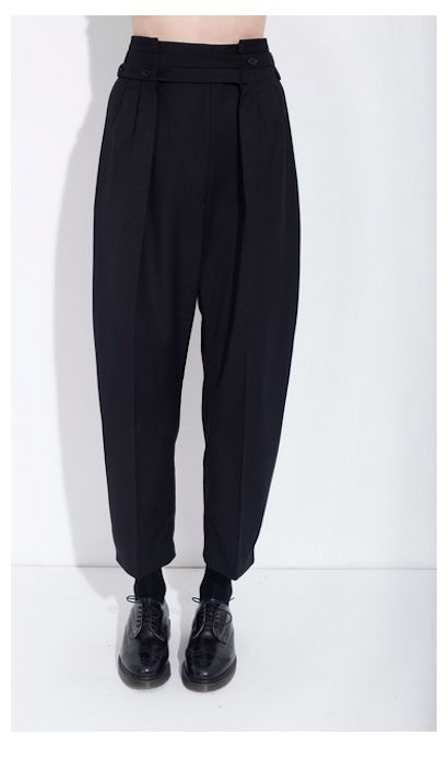 Honest | Bruno Pieters | organic wool adjustable trousers