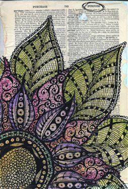 """I Have A Purpose"" Zen Doodle Art Journal Page - Media - Cloth Paper Scissors"