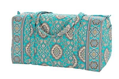 vera bradley, large duffel, totally turquoise $49