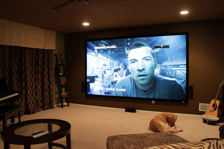 giant home cinema with surround sound - and NO WIRES anywhere