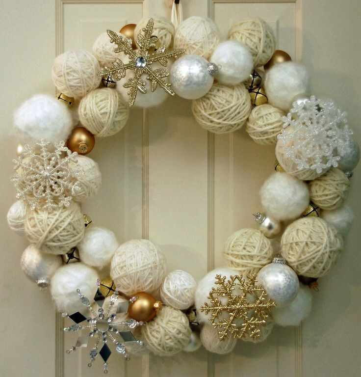 Imagen de http://img.loveitsomuch.com/uploads/201411/06/20/2014%20christmas%20yarn%20wrapped%20ball%20wreath%20with%20silver%20and%20golden%20glitter%20snowflakes%20jingle%20bells%20-%20chr-f27021.jpg.