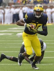 Jehu Chesson will be one of Wolverines' deep-threats in 2015.  Detroit Free Press