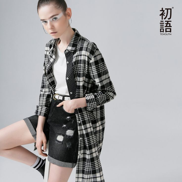 To youth Autumn Winter Fashion Women Plaid Shirt Medium Long Casual Long Sleeve Flannel Shirt Long Sleeve Women Blouses Shirt
