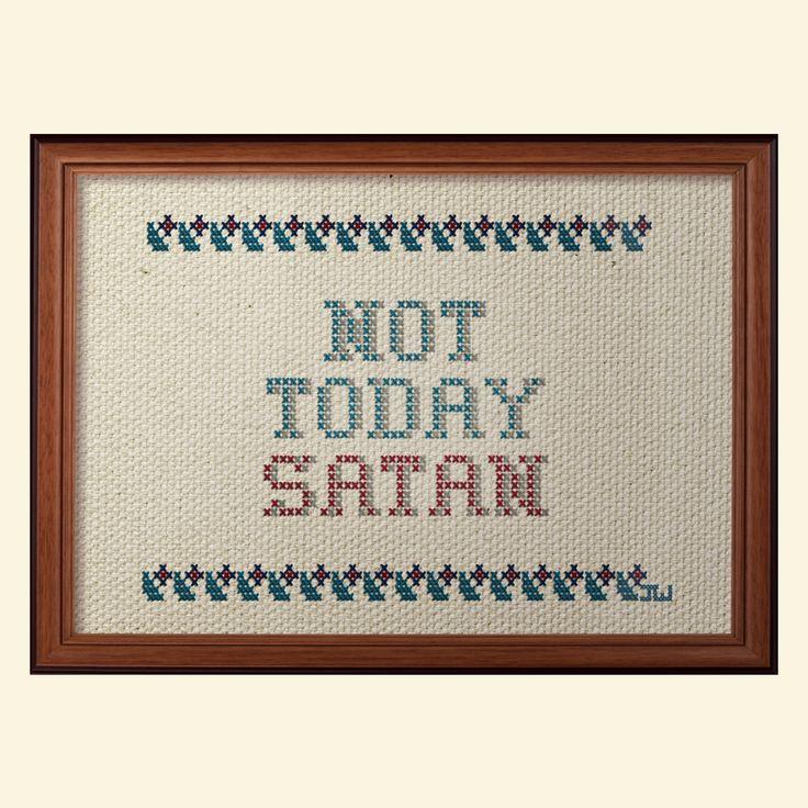 Contemporary cross stitch by Jeffery Woodrow