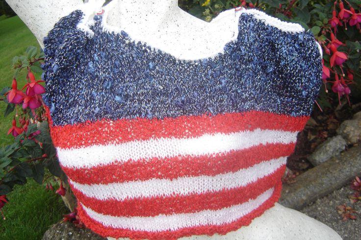 Top, débardeur en style drapeau américain USA country : T-Shirt, debardeurs par jodestyl