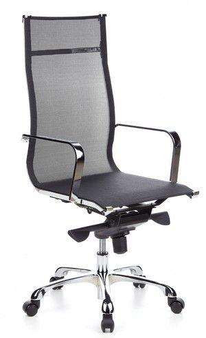 Bureaustoel / directiestoel EMILIA netstof, zwart / chroom - (thuis) Kantoor Bureaustoelen - Luxe bureaustoelen -Bureaustoel 24 | Online Bur...