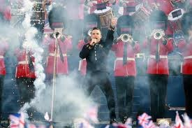 Robbie Williams at the Diamond Jubilee Concert