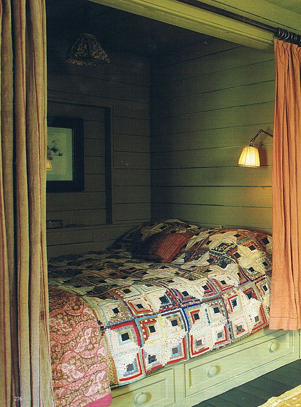 bedroom nook: World of Interiors - McWhirter Morris Interior Decoration London UK