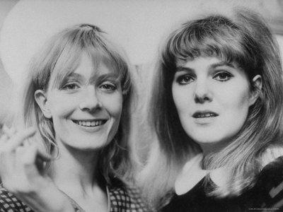 Lynn Redgrave + Vanessa Redgrave, 1960s.