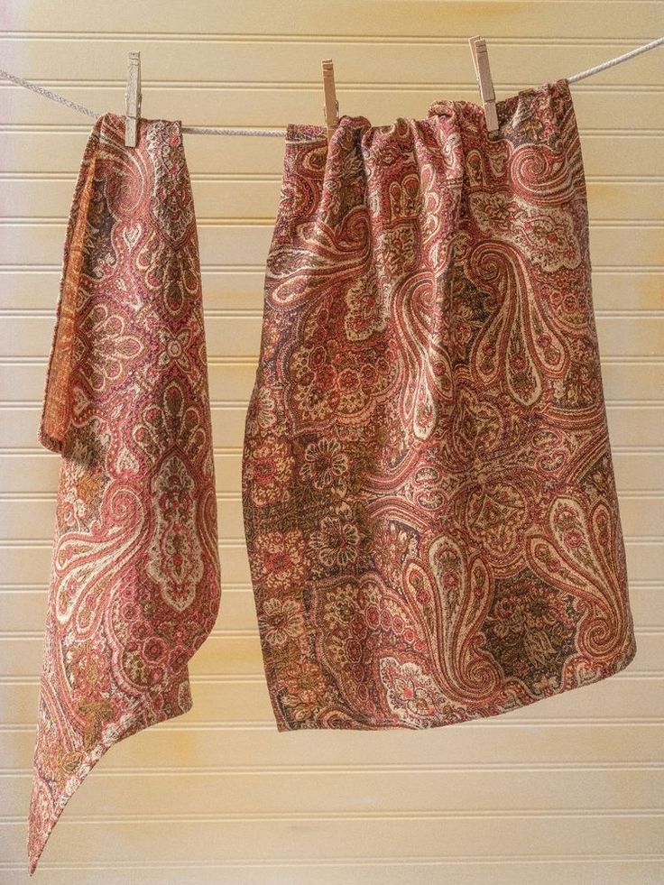 April Cornell Tea Towel Kashmere Paisley NWT 100% Cotton Brown Kitchen Linen   #AprilCornell