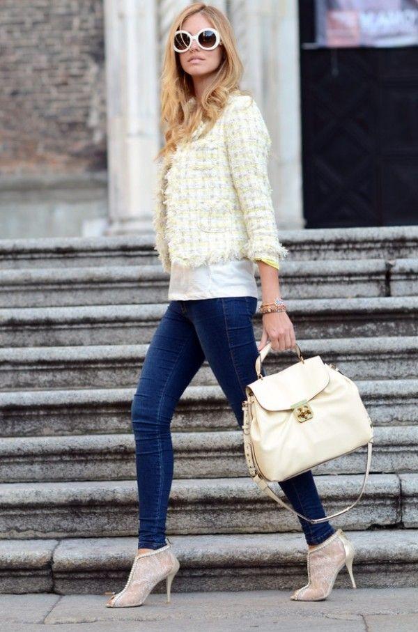 25 best Tweed white Blazer images on Pinterest | White blazers ...