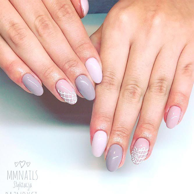 77 Designs For Trendy Gel Nails Polish Colors 2018 With Images
