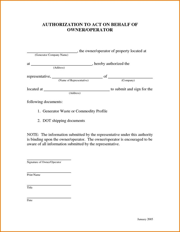 sample authorization letter for claim prize charity appointment - owner operator lease agreement sample