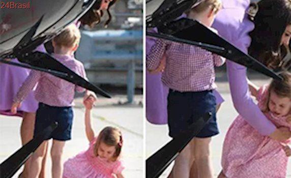 Princesa Charlotte leva bronca de Kate Middleton após fazer birra