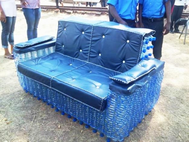 how to recycle plastic bottles for furniture design