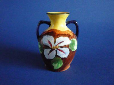 H & K Tunstall Pottery 'Clematis' Art Deco Vase c1935