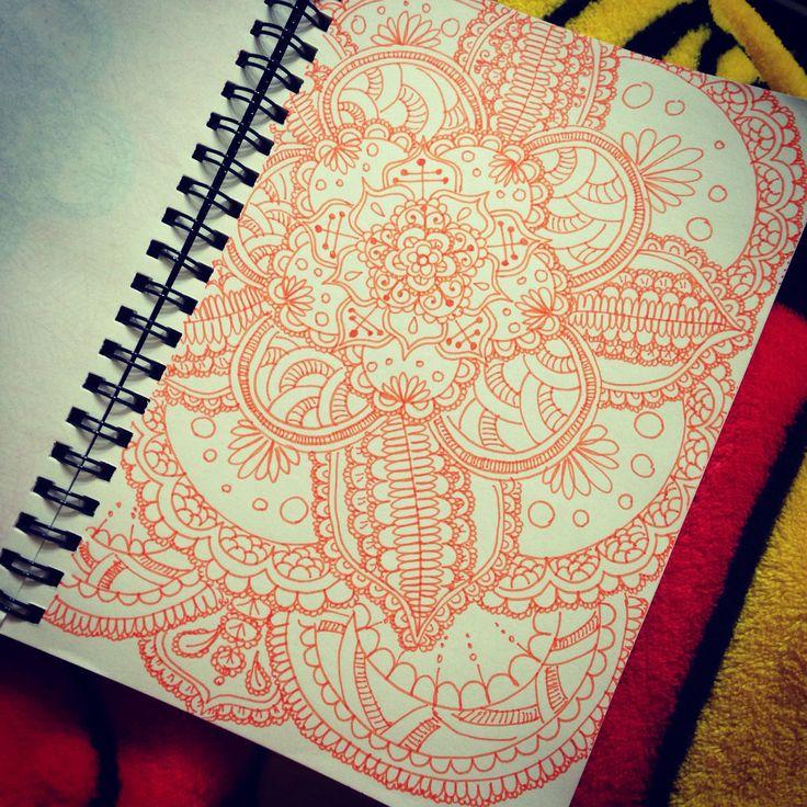 Space #mandala #doodle #zentangle