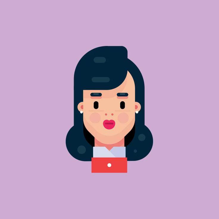 Female Flat Design Character Illustration 2019