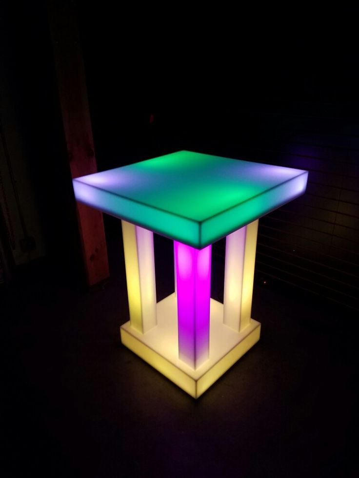 Quad Column Led Table From Www.Barchefs.com